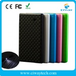 Slim Li-polymer power bank with flashlight